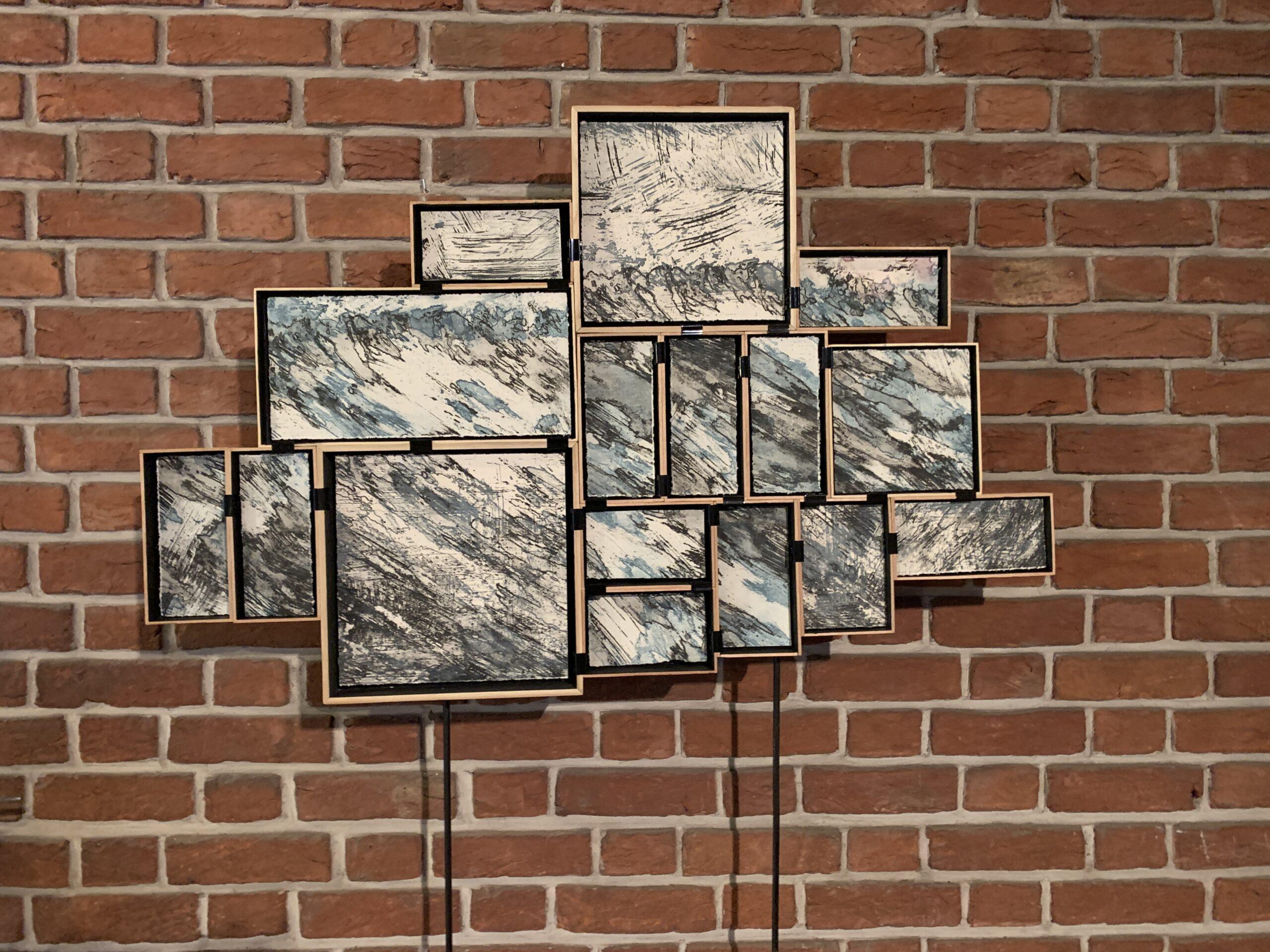 Jean Stuyck: Perfect wave, suikerets, hout, papier, inkt, ijzer